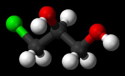 Alpha-chlorohydrin-3D-balls